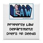 Property lawyer's Tile Coaster