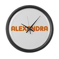Alexandra in Movie Lights Large Wall Clock