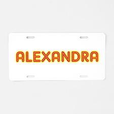Alexandra in Movie Lights Aluminum License Plate