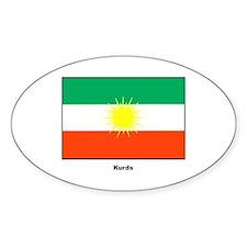 Kurd Kurdistan Flag Oval Decal