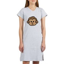 Monkey Face Women's Nightshirt