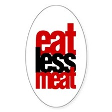 Eat Less Meat Decal
