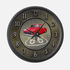 Route 66 Chevy Truck Large Wall Clock