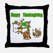 Funny Thanksgiving Throw Pillow