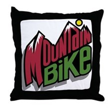 Mountain Bike 2 Throw Pillow