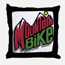 Mountain Bike 2 Throw Pillow