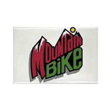 Mountain Bike 2 Rectangle Magnet