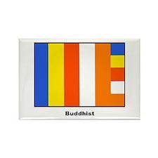 Buddhist Buddhism Flag Rectangle Magnet