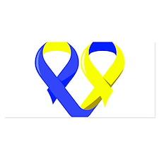 Blue Awareness Ribbon Goofkin Blanket Wrap
