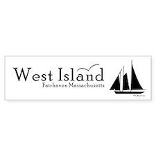 West Island Bumper Car Sticker