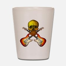 Skull & Guitar Shot Glass