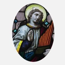 St Cecilia Oval Ornament