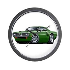 1970 Coronet Green Car Wall Clock