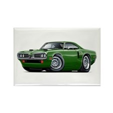 1970 Coronet Green Car Rectangle Magnet