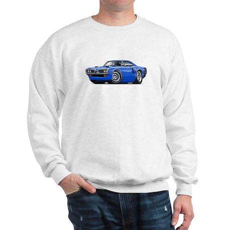 1970 Coronet Blue-Black Car Sweatshirt