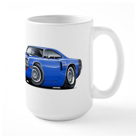 1970 Coronet Blue-Black Car Large Mug