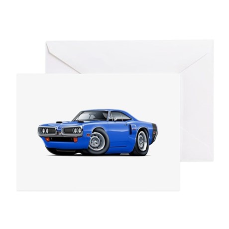 1970 Coronet Blue-Black Car Greeting Cards (Pk of