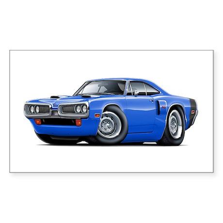 1970 Coronet Blue-Black Car Sticker (Rectangle)
