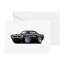 1970 Coronet Black Car Greeting Card