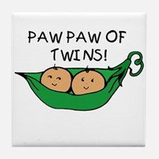 Paw Paw of Twins Tile Coaster