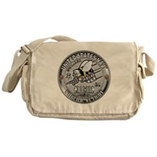 USN Navy Seabees Can Do Build Messenger Bag