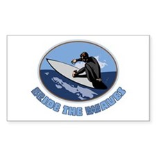 Ride the Waves Rectangle Decal