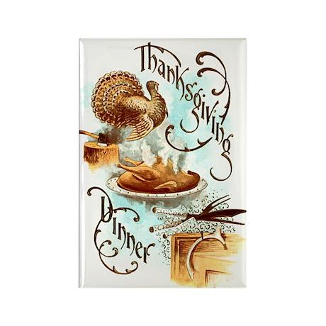 Thanksgiving Dinner Rectangle Magnet