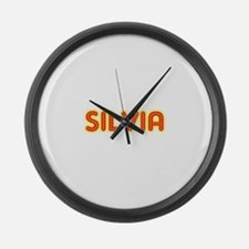 Silvia in Movie Lights Large Wall Clock
