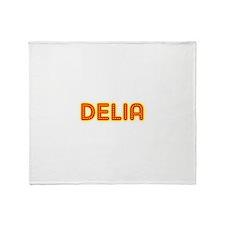 Delia in Movie Lights Throw Blanket