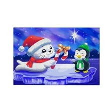 Cute Candy canes Rectangle Magnet