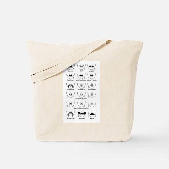 Moustache Chart Tote Bag