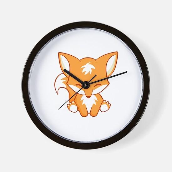 Unique Cute fox Wall Clock