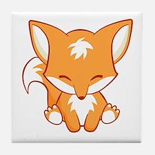 Unique Cute fox Tile Coaster