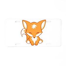 Cute Kitsune Aluminum License Plate