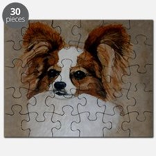 Red Sable Papillon Head Study Puzzle