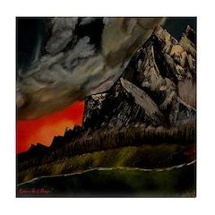 Mountain Sunset Tile Coaster