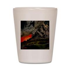 Mountain Sunset Shot Glass