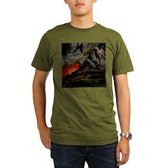 Mountain Sunset Organic Men's T-Shirt (dark)