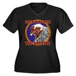 Old Rooster Women's Plus Size V-Neck Dark T-Shirt