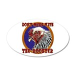 Old Rooster 22x14 Oval Wall Peel
