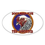 Old Rooster Sticker (Oval)