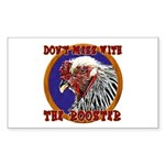 Old Rooster Sticker (Rectangle)