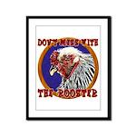 Old Rooster Framed Panel Print