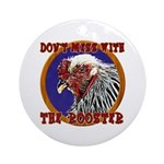 Old Rooster Ornament (Round)