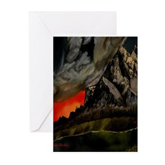 Mountain Sunset Greeting Cards (Pk of 20)