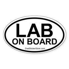 Lab on Board Oval Decal