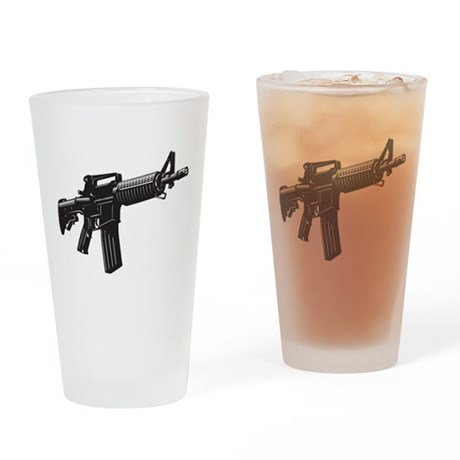 AR15 Drinking Glass
