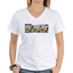 0175 - First parts for the... Women's V-Neck T-Shi