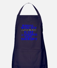 Walking With My ashera Cat Apron (dark)