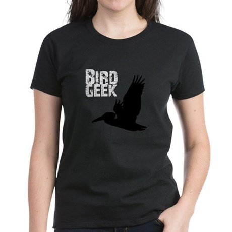 Bird Geek (Pelican) Women's Dark T-Shirt